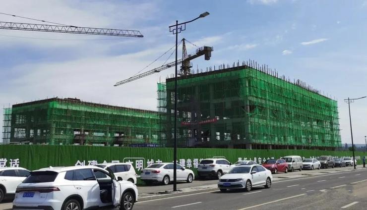 大同平城双语学校最新工程进度:部分楼栋封顶