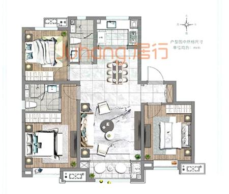 华润置地·凯旋门121户型图