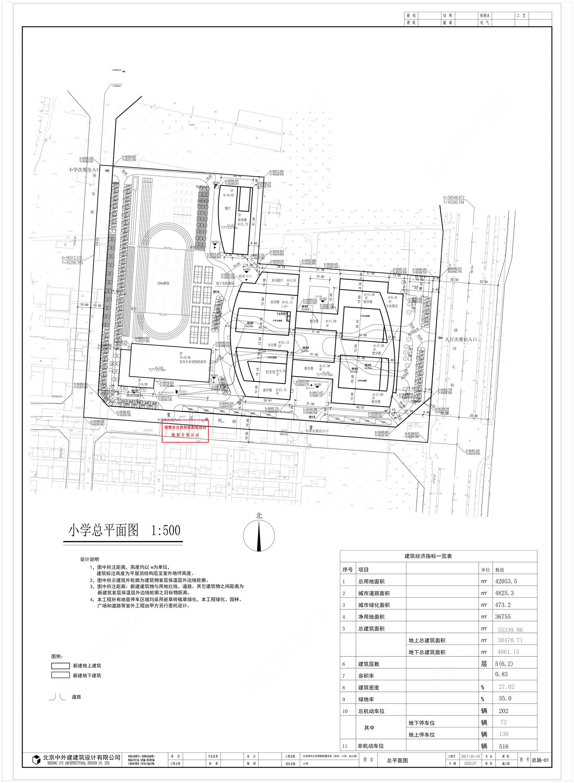 关于北京师范大学邯郸附属学校项目(小学)方案调整项目的规划公示