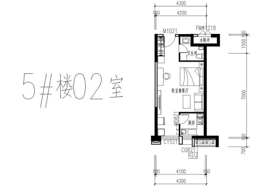 隆基+时代5#02室户型