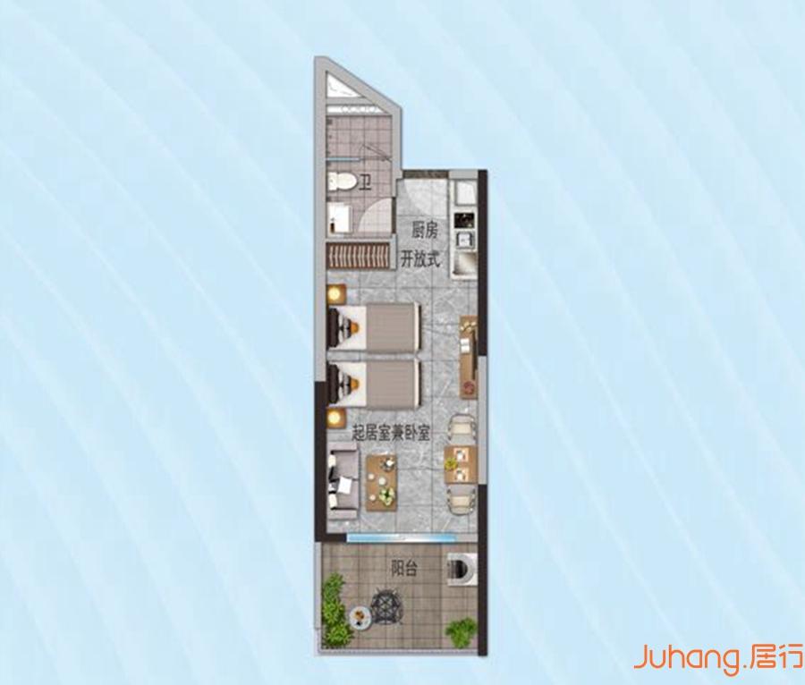 鼎龙湾45平户型图